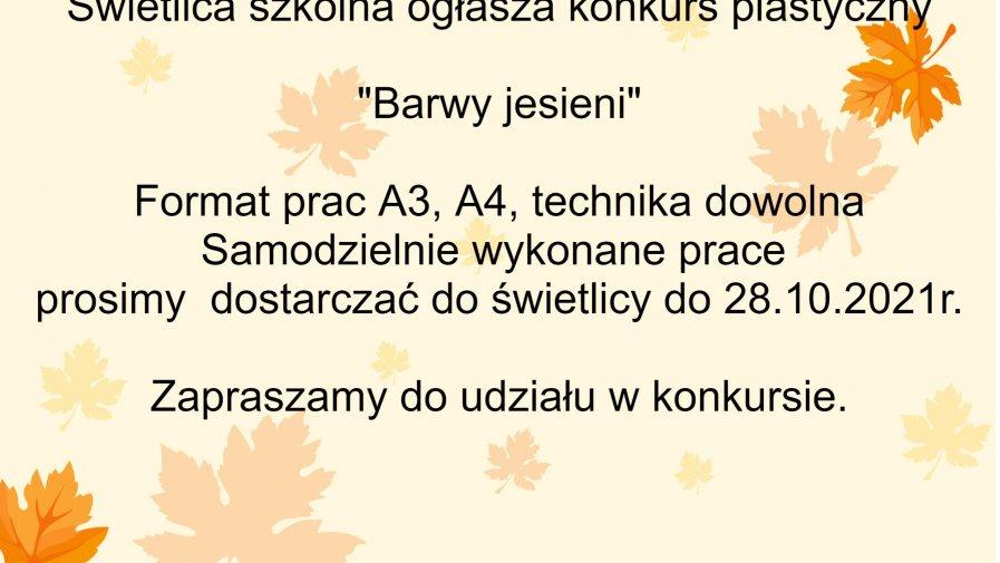 """Konkurs plastyczny """"Barwy jesieni"""""""